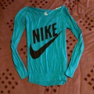 Nike Oversized Long-Sleeved Boatneck Tee